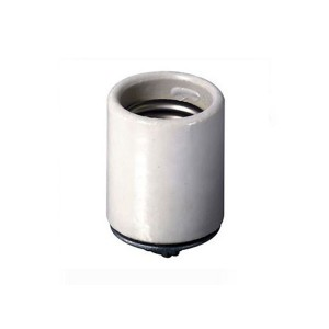 Incandescent Lampholder - Glazed Porcelain - Medium Base - Pipe Mount - Single Circuit - Back Wired - White