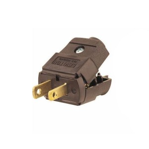 Plug - Straight Blade - Residential Grade - 15A - 125V - NEMA 1 - 15P - 2-Pole - 2-Wire - Polarized - Non-Grounding - Brown