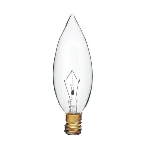 Decorative Bulb - B10 - 40W - European E14 Base - Clear - 130V AC - 25 Packs