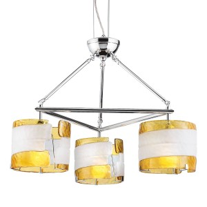 Fluid 3-light Chandelier - Max. 180W - Pendant Luminaire