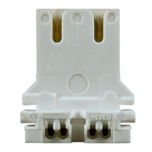 U-Bend Lampholder - Medium Bi-Pin Socket - Non-shunted