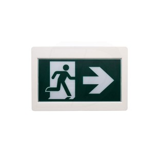 LED Running Man Exit Sign - 120/347V - Thermoplastic - Single & Double Sided - Remote Capability - Battery Back Up