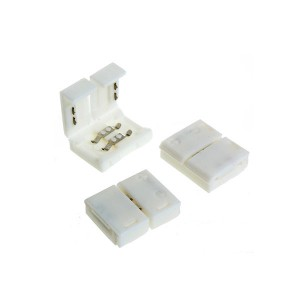 Strip Light Connector - For 10mm 2-pin Single Color Strip - Non Cord - 180 degree