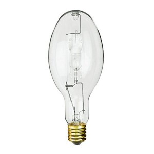 Metal Halide - 330W - 4000K Natural White - Mogul (E39) Base - Universal Burn - Pulse Start - Clear Bulb - 12 packs