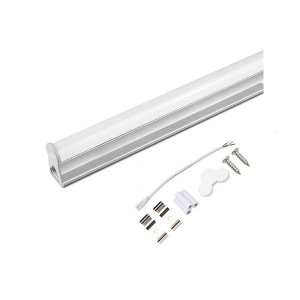 LED T5 Under-Cabinets Tubes - White Body - 9W - 2 FT - 3000K Warm White - Connect Wire & Clips Included