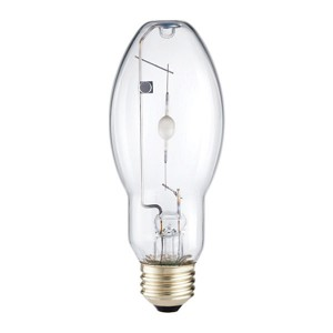 Metal Halide - 50W - 3000K Warm White - Medium (E26) Base - Universal Burn - Pulse Start - Clear Bulb - 12 packs