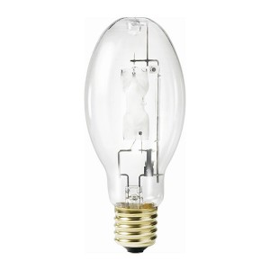 Metal Halide - 205W - 4000K Natural White - Mogul (E39) Base - Universal Burn - Pulse Start - Clear Bulb - 12 packs