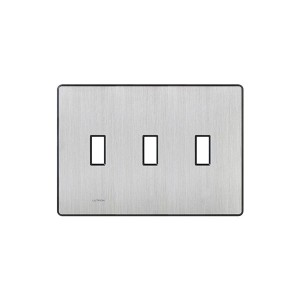Fassada Wall Plate - 3-Gang - Stainless Steel