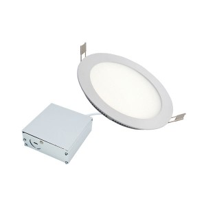 LED Slim Panel Recessed Light - White - 7W - 3 inch - 3000K Warm White - 120V AC