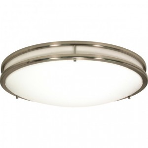LED Glamour Flush Mount Ceiling Fixture - 39W - 3000K Warm White - 24 inch - Dimmable - 120V AC