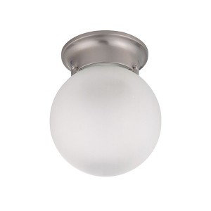 LED 1 Light Ball Flush Mount Fixture - 6 Inch - 10.5W - 3000K Warm White - Dimmable - 120V AC