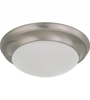 LED 1 Light Twist and Lock Flush Mount Fixture - 12 Inch - 10.5W - 3000K Warm White - Dimmable - 120V AC