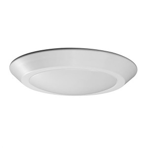 LED Flush Disk Light - White - 10.5W - 3000K Warm White - 7 inch - Dimmable - 120V AC