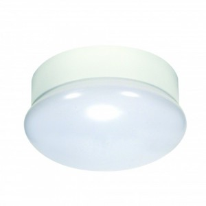 LED Utility Fixture - White - 13.5W - 3000K Warm White- 7 inch - Dimmable - 120V AC