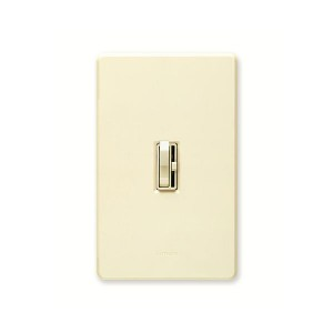 CFL/LED Dimmer - Toggle Slide Switch - Almond - 150W or 600W Max. - 120V - Wall Plate Sold Separately