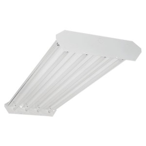 Fluorescent High Bay - 4FT - 8-lamp T8 - Ballast included - 347V