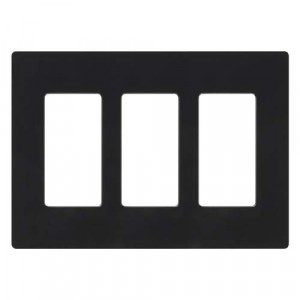 Claro Wall Plate - 3-Gang - Black