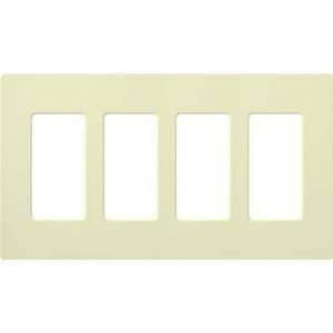 Claro Wall Plate - 4-Gang - Almond