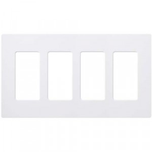 Claro Wall Plate - 4-Gang - White
