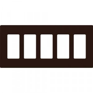 Claro Wall Plate - 5-Gang - Brown