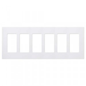 Claro Wall Plate - 6-Gang - White