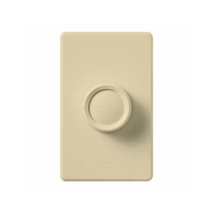 Rotary - Incandescent/ Halogen Dimmer - W/ Push On/Off Knob - 120V - 600W Max. - Ivory - Wall Plate Sold Separately