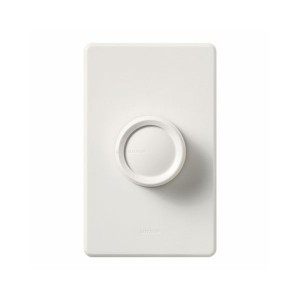 Rotary - Incandescent/ Halogen Dimmer - W/ Rotate On/Off Knob - 120V - 600W Max. - White - Wall Plate Sold Separately
