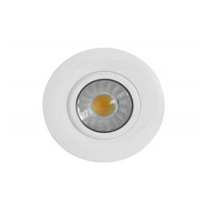 LED Slim Panel Gimbal Downlight (Round)- 6W - 3 inch - 3000K Warm White - Dimmable - 120V AC - White - Triac Warm Dim