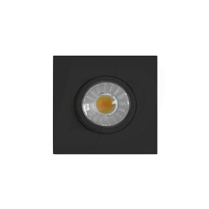 LED Slim Panel Gimbal Downlight (Square) - 8W - 3 inch - 3000K Warm White - Dimmable - 120V AC - Black - Triac Warm Dim