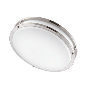 LED Flush Mount Ceiling Fixture (Drum Fixture) - 15W - 4000K Natural White - 16 inch - Dimmable - 120-277V AC