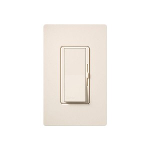 Fluorescent Dimmer - Dimming with Hi-lume® and Eco-10TM (ECO-Series) - Paddle Switch - Eggshell - 120V - 8A - Matte Finish - Wall Plate Sold Separately