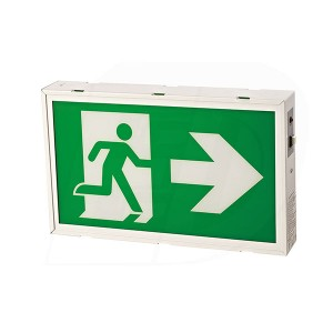 LED Running Man Exit Sign - 120/347V - Durable Steel Housing - Single & Double Sided