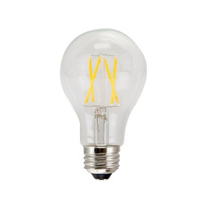 LED A19 Filament Clear - 8W - 120V AC - E26 Base - 2700K Soft White