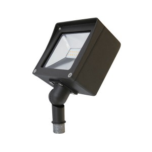 LED Compact Flood Light - 10W - 4000K Natural White - 120-277V AC - Knuckle Mount