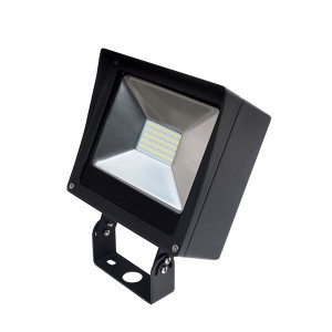 LED Compact Flood Light - 80W - 4000K Natural White - 120-277V AC - Trunnion Mount
