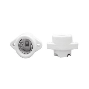 Porcelain Keyless Lampholder - Use with Commercial Reflector Units - Medium E26 Base Socket