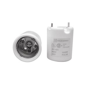 5W Pulse Rated Lampholder - Leads Lugged To Screw Shell & Centre Contact - Mogul Base