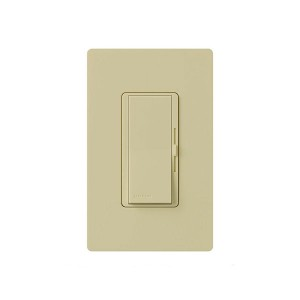 Incandescent / Halogen/LED/CFL Dimmer - Paddle Switch - Ivory - 120V - 600W Max. - Gloss Finish - Wall Plate Sold Separately