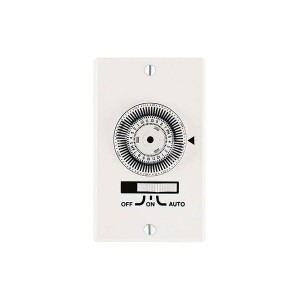 Electromechanical Timer - Heavy-Duty Mechanical In-Wall Timer - Single Gang - Three-Way - 20A -120V - White