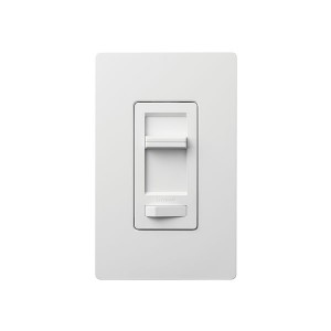 Lumea C•L Dimmer - Rocker Switch - With Captive Linear-Slide Dimmer - White - 120V - Wall Plate Sold Separately