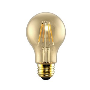 LED A19 Filament Amber - 5W - 120V AC - E26 Base - 2200K Soft White