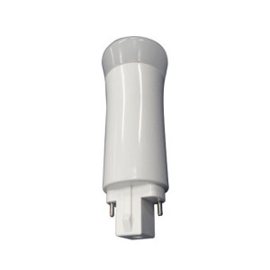 LED PL Bulb - 2-pin G24d base - 9W - 3000K Warm White - Ballast Compatible - Vertical