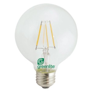 LED Globe G25 Clear Glass - 6W - 3000K Warm White (Pack of 12)
