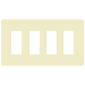 Decorator Wall Plate - 4-Gang - Ivory