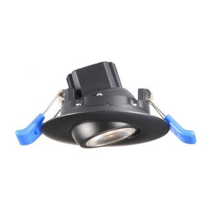 LED Gimbal Round Recessed Slim Panel - Black - 5W - 2 inch - 3000K Warm White - 120V AC