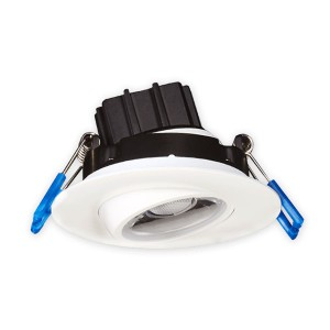 LED Gimbal Round Recessed Slim Panel - White - 7.5W - 3 inch - 3000K Warm White - 120V AC