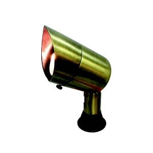 LED Landscape - Brass Ground Spotlight - 25W - MR16 Base - Includes Ground Spike