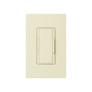 Maestro - Fluorescent Dimmer - 3 Wire - Digital Fade - Two Loads - Almond - 120V - 6A - Wall Plate Sold Separately