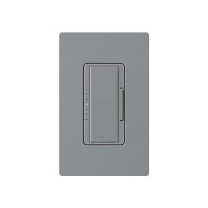Maestro - Fluorescent Dimmer - 3 Wire - Digital Fade - Two Loads - Grey - 120V - 6A - Wall Plate Sold Separately
