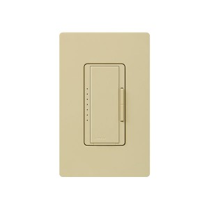 Maestro - Fluorescent Dimmer - 3 Wire - Digital Fade - Two Loads - Ivory - 120V - 6A - Wall Plate Sold Separately
